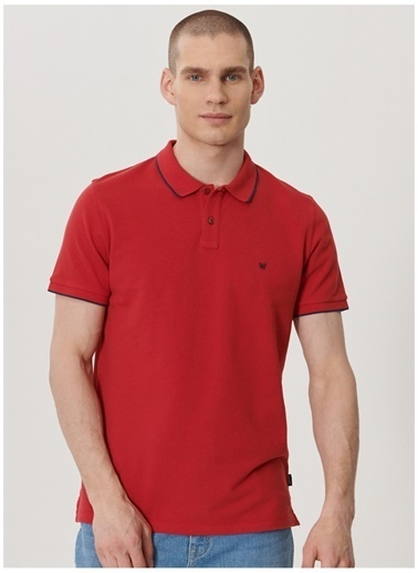 Wrangler Wrangler W7D5K4X47_Polo T-shirt  Kırmızı
